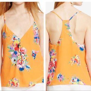 NWT POLO Ralph Lauren orange floral silk tank top
